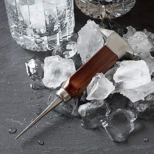 Eispickel Edelstahl für Küche, Bars, Bars, Barkeeper Dual-Action Chipper Kopf Design Hammer-Style Eismeißel