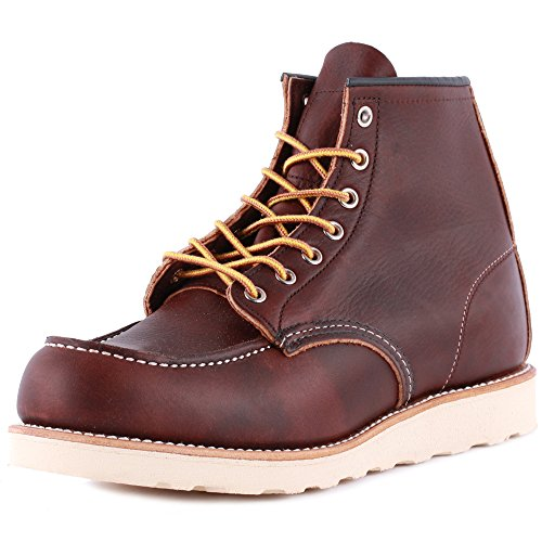 Red Wing Moc Toe 08138-1 Mens Laced Leather Boots Brown - 9