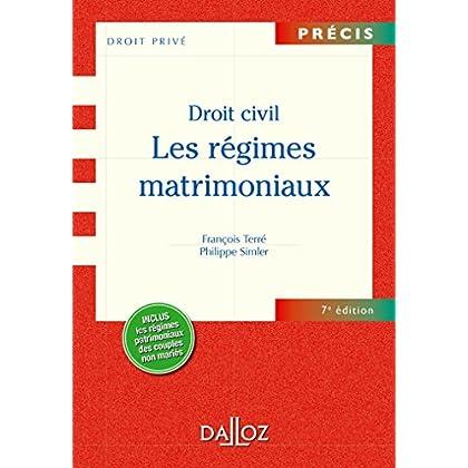 Les Droit civil. Régimes matrimoniaux - 7e éd.