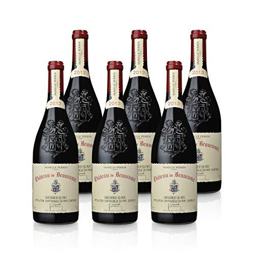 Château de Beaucastel Rouge AOC Chateauneuf du Pape 2013 trocken (0,75 L Flaschen), Paket mit:6 Flaschen