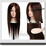 Pedgeo (TM) Nuovo 50,8cm 100% capelli veri formazione testa di manichino da parrucchiere + clamp C10