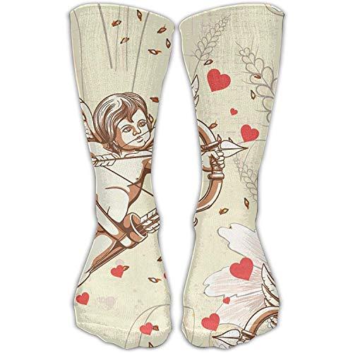 Über Das Kalb, Boot-socken (Personalisierte kühle Winter-warme Strümpfe lieben Amor-Rohr-Mannschaft über dem Kalb für und die Eignung der Frauen kniehohe Socke)