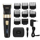 KYG Haarschneidemaschine elektrischer Haarschneider bart trimmer herren Präzisionshaartrimmer mit 8 Aufsatzkämmen für Salon oder zu Hause Schwarz MEHRWEG - 9