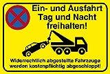 Einfahrt freihalten Alu-Schild inkl. 4 Lochbohrungen | 30 x 20 cm |