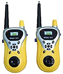 Azi Yellow and White Plastic Walkie Talkie Toy Set for Kids