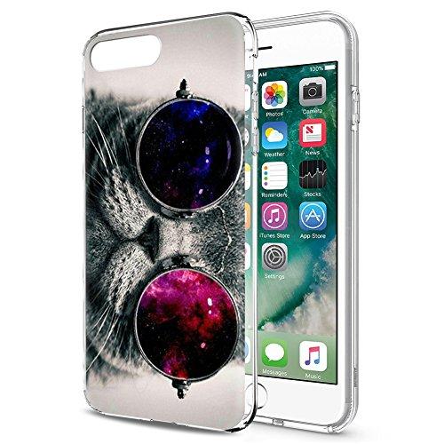 Coque iPhone 8, Coque iPhone 7, Eouine Coque Motif Transparent, Ultra Slim Housse Etui de Protection Anti choc Gel TPU Silicone Bumper Case Cover pour Apple iPhone 7 (2016) / iPhone 8 (2017) 4.7-inch  Chat