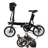 Elektrofahrrad klappbar, Faltrad Mini Klapprad Kinder mit Heckmotor und Quick-Fold System 14 zoll Schwarz