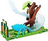 Hot Wheels FNB07 City Riesenspinnen Angriff Parkset, Spinnen Spielset mit Bahn inkl. 1 Spielzeugauto, ab 4 Jahren
