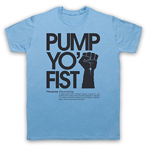 Pump Yo Fist Slogan Herren T-Shirt Hellblau
