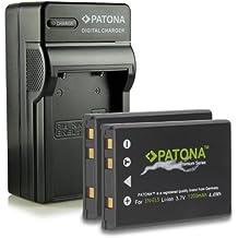 Bundle - 4in1 Caricabatteria + 2x Premium Batteria EN-EL5 ENEL5 per Nikon Coolpix 3700 | 4200 | 5200 | 5900 | 7900 | P3 | P4 | P80 | P90 | P100 | P500 | P510 | P520 | P5000 | P5100 | P6000 | S10 e più… [ Li-ion; 1200mAh; 3.7V ]