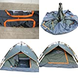 'Amaze' Portable Light weight Water proof Trekking Camping Picnic outdoor family Automatic Fast Easy setting Shelter Tent--3 people - Grey