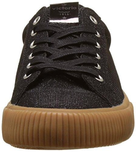 victoria Damen Deportivo Lurex Sneakers Schwarz (Negro)