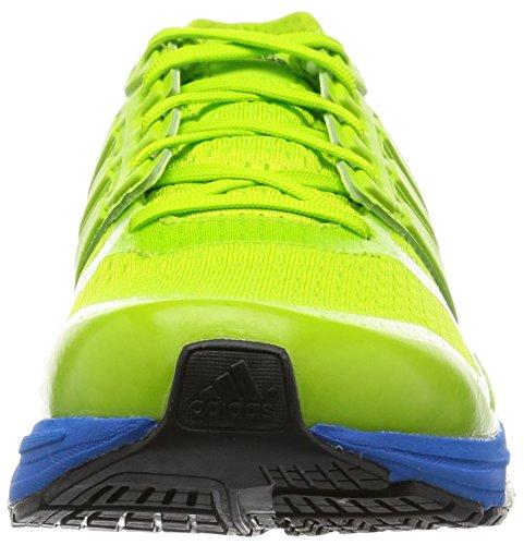 adidas Supernova Sequence, Chaussures de Course Homme Vert (Semi Solar Slime/Semi Solar Slime/Shock Blue)