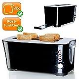 Toaster für 4 Scheiben leckere Toasts und frisch erwärmtes und knuspriges Brot, 7 Bräunungsstufen