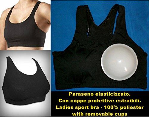 paraseno body elasticizzato licra pallavolo boxe mma (Small (1°- 2°))