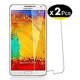 NEW'C Pacco da 2 Pezzi, Pellicola Protettiva in Vetro Temperato per Samsung Galaxy Note 3