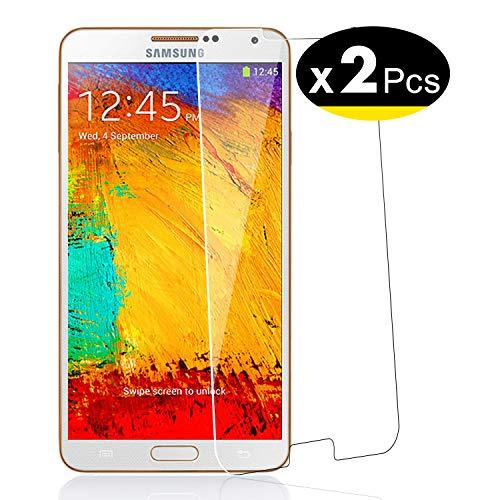 NEW'C PanzerglasFolie Schutzfolie für Samsung Galaxy Note 3, [2 Stück] Frei von Kratzern Fingabdrücken und Öl, 9H Härte, HD Displayschutzfolie, Displayschutzfolie Samsung Galaxy Note 3