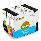 Gohepi PGI-2500XL Kompatibel für Druckerpatronen Canon PGI-2500XL, Schwarz/Blau/Rot/Gelb 4er-Pack Arbeit mit Canon MAXIFY MB5350 MB5050 iB4050 MB5450 MB5155 MB5150 iB4150 MB5455 Patronen
