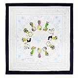 """United Labels Damen Umschlagtuch Peanuts Seidentuch in Carré-Form """"Paisley"""" -0119641, Blau (296C), One Size (Herstellergröße: 93 x 93 cm)"""