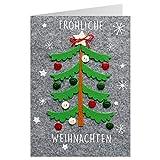 Sheepworld 90490 Carte pliante avec enveloppe Noel 47 Carte boutonnée de Noël