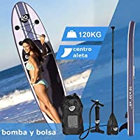 COSTWAY Tablas Paddle Hinchables Remo Surf Board Tablero Sup Stand Up Board Set 305 x 76 x 15cm Inflable Blanco