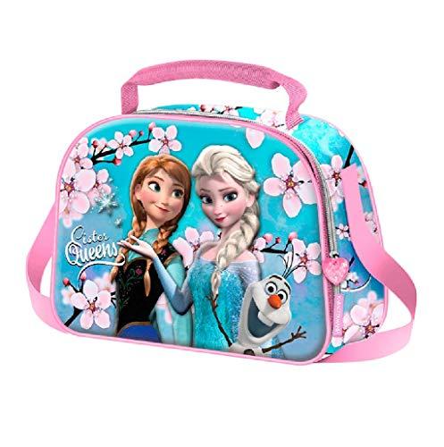 Karactermania Frozen Sister Queens-3D Lunch Bag Schulranzen, 26 cm, Blau (Blue)