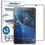 ebestStar - Compatibile x2 Vetro Temperato Samsung Galaxy Tab A6 A 10.1 (2018, 2016) T580 T585 Protezione Schermo Pacco x2 Pellicole Anti Shock, Anti Rottura [Apparecchio: 254.2x155.3x8.2mm, 10.1'']