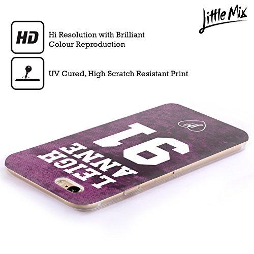Offizielle Little Mix Herz LM Muster Kunst Soft Gel Hülle für Apple iPhone 5 / 5s / SE Leigh Anne Trikot