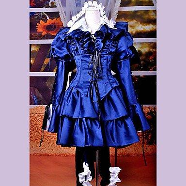 Pandora Hearts Alice blauen Kleid Cosplay Kostüme Brauch (Mailen Sie uns Ihre Größe),Größe S:155-160 (Pandora Alice Hearts Kostüm Cosplay)