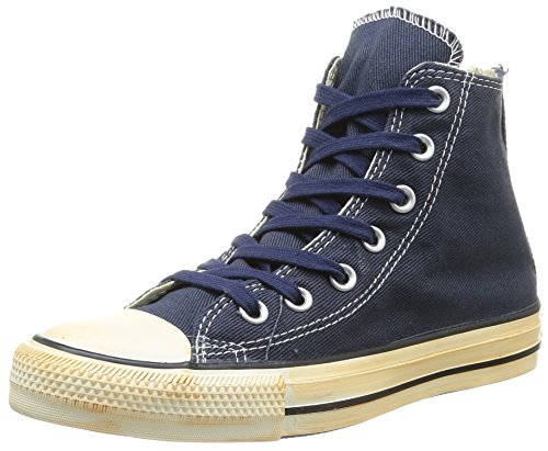 Converse Chuck Taylor All Star Homme Vintage Washed Back Zip Twill Hi, Baskets mode homme Bleu