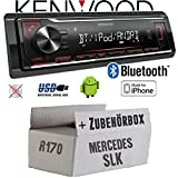 Mercedes SLK R170 - Autoradio Radio Kenwood KMM-BT204 - Bluetooth | MP3 | USB | iPhone - Android - Einbauzubehör - Einbauset