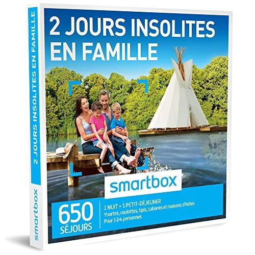 SMARTBOX - Coffret Cadeau - 2 JOURS INSOLITES EN FAMILLE - 250 : yourtes, roulottes,...