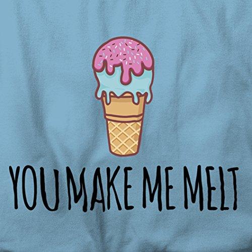 You Make Me gelato della fusione di divertente sveglia Pun Slogan damore di San Valentino Sacchetto Di Tote Natural