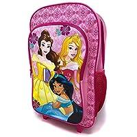Disney Princess Girls Pink Backpack Trolley Deluxe Wheeled Suitcase Cabin Bag School