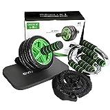 GYMBOPRO 4-in-1 AB Roller Bauchtrainer,AB Wheel für Fitness Bauchmuskeltraining Muskelaufbau...