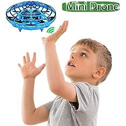 Jresboen UFO Mini Drone para Niños, [Actualizado] Mini UFO Quadcopter, Bola Voladora, Flying Ball Helicopter Helicóptero Avion Juguete Bebé con Sensor Infrarrojo & Evitación Automática de Obstáculos
