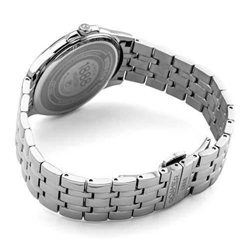 Roamer-Felltrimmer Windsor Herren Quarz-Armbanduhr mit Silber Zifferblatt Analog-Anzeige und Silber Edelstahl Armband 705856410570