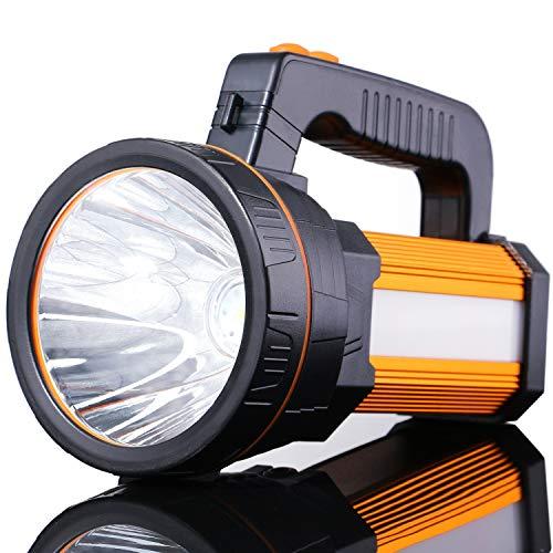 ALFLASH 7000 lúmenes Potentes linternas LED Linternas para acampar Linterna táctica recargable Impermeable Super brillante Proyector Reflector de mano, 5 modelos