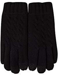 Elma Men's Wool Knitted Lined Touchscreen Texting Winter Gloves Mittens