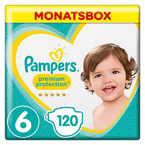 Pampers Premium Protection Gr.6 Extra Large (13-18/15+ kg) Monatsbox