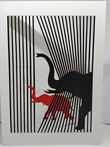 éléphants Forever fait à la main Cartes de découpe laser présentée par Sterling Effectz