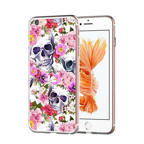 el mit case iPhone 6 Plus Hülle Halloween Cover iPhone 6 Plus Handy Schale Schutz Transparent Stoßfestes Schutzmuster Weiche TPU Silikonhülle ()