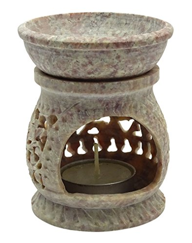 Aromatherapy Malvenfarbenes keramisches Öl-Brenner-Wachs-Teelicht-Diffuser-Wärmer-Duft-Halter-Hauptdekor-Geschenk-Satz