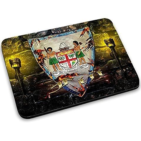 Escudo de armas colección 2, Custom adhesivo para MacBook piel de vinilo mangas de diferentes tamaños, neopreno, Coat of Arms Fiji, Mouse Mat