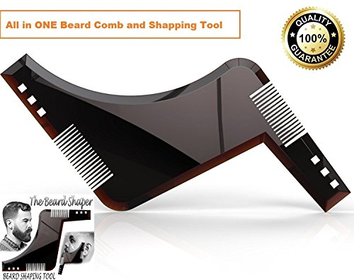 Orange Creations - Beard Shaping Tool with Beard Shaper Comb Guide Styling Line and Shaving Premium Quality Beard Hair Styling Shaper