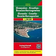 Croatie, Slovénie Bosnie Herzégovine : 1/500 000