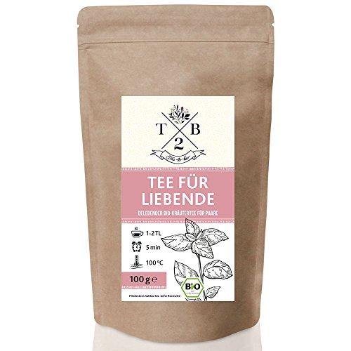 Kräutertee in Bio-Qualität für die Liebsten mit Zimt und Chili für anregende Stunden, loser Bio-Kräutertee, 100g (Ca. 40 Tassen)   Tea2Be by Sarenius -
