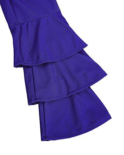 StyleDome -  Maglia a manica lunga  - Maniche lunghe  - Donna Blu