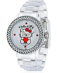 Hello Kitty Mädchen-Armbanduhr Uto Transparent Analog Quarz Plastik JHK9904-17