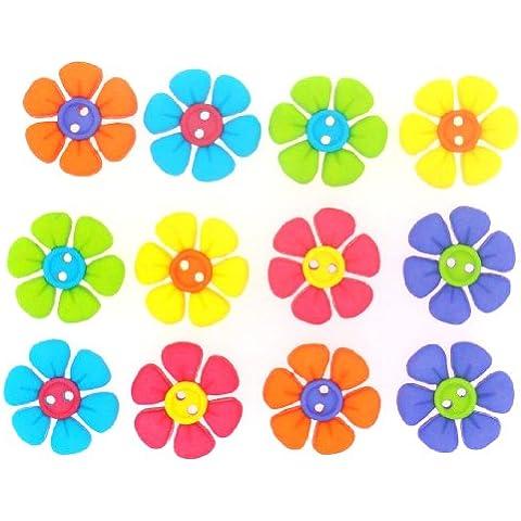 Vesti fiore pulsante Cute abbellimenti-cucire